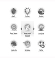Vintage icons set with image slider menu vector image