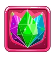 The application icon with gems vector image