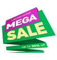 sale label price tag banner badge template vector image
