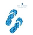 knit sewater fabric horizontal texture flip flops vector image vector image