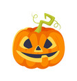 cartoon style halloween pumpkin vector image