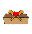 gift box love valentines day related icon icon vector image