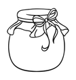 Jar of honey icon in outline style isolated on vector image