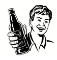 Retro Beer Guy vector image
