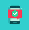 smartphone and checkmark flat vector image