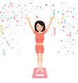 success woman girl diet loose weight happy vector image