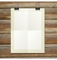 template of a paper sheet -poster picture frame- vector image