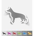 realistic design element german shepherd vector image