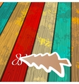Tree on wooden background  EPS8 vector image vector image