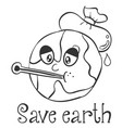 hand draw save earth design vector image