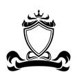 decorative shield crown ribbon heraldry victorian vector image