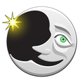 cheerful crescent character vector image