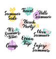 Summer time hand drawn quotes vector image