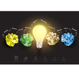 Creative light bulb with crumpled paper vector image vector image