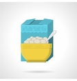 Breakfast cereal flat color icon vector image