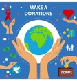 Charity Flat Poster vector image