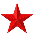 Red star 3D shape vector image