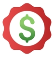 Bank Award Stamp Gradient Icon vector image