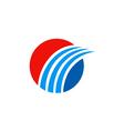 business round swoosh arrow finance logo vector image