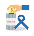 cash money donation support to charity of the vector image