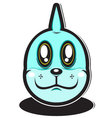 cute blue water element cartoon monster vector image