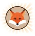 fox cartoon inside circle design vector image