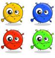 Set of cartoon germs vector image