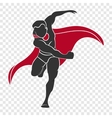Superhero hit the right hand vector image