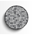 white circle on silver sequins background vector image