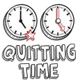 Qutting time vector image