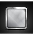 Mobile app icon - empty metallic texture box vector image vector image