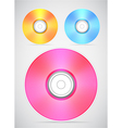 Compact disc collection vector image vector image