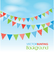 colourful bunting vector image