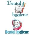 Dental hygiene logo vector image vector image