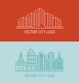linear city logo concepts vector image