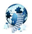 global business background vector image vector image