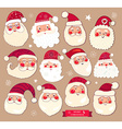 Set of Santa Clauses vector image vector image