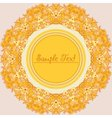 Yellow round decorative flower frame vector image