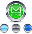 e-mail round button vector image vector image
