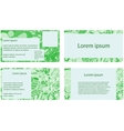 Set of business cards in doodle style vector image