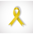 Yellow awareness ribbon vector image