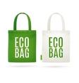 Eco Fabric Cloth Bag Tote vector image