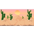 Cactuses Game Background vector image