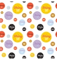 Childish pattern with cute smiley weather icons vector image