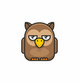 cute owl icon on white background vector image