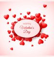 greeting card of valentines day amour and love vector image