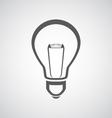 light bulb icon vector image