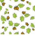 Oak leaves and acorns vector image