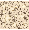 Romantic seamless pattern eps 10 vector image
