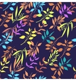 Seamless pattern with colorful twigs silhouette vector image